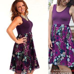 Matilda Jane Sugar Plum Park Day Dress Purple M